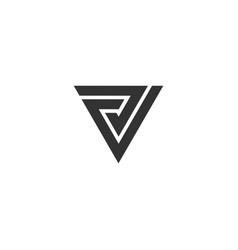 v letter alphabet business sport vector image vector image