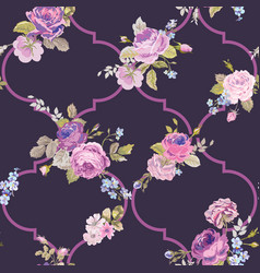 violet roses barocco flowers background violet vector image vector image