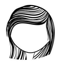Woman hearstyle decoration icon vector