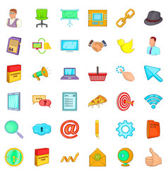 Work man icons set cartoon style vector