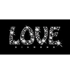 Love diamond icon vector