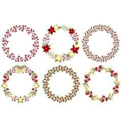 Christmas Wreath Set vector image