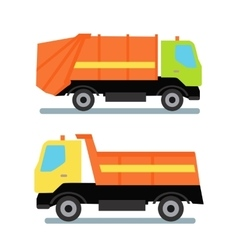 Two orange truck vector