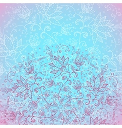 blue background for text with rose ornament vector image