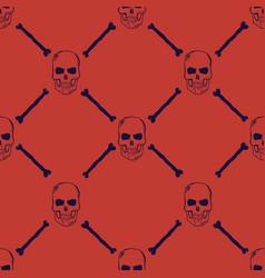 skulls and bones seamless pattern vector image