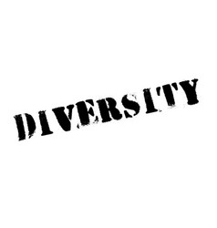 Diversity rubber stamp vector