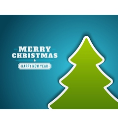 Christmas green tree applique background vector image