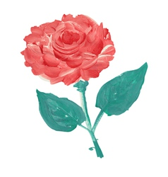 Oil painted rose vector