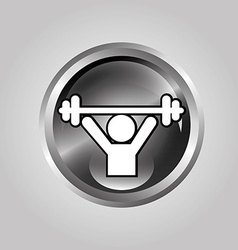 Weightlifter design vector