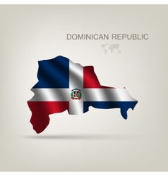 Flag of the dominican republic as a country vector