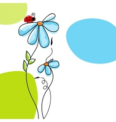 Cute nature scene vector
