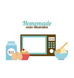 Homemade food vector