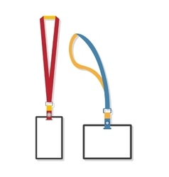 Template flat design of lanyard end badge vector