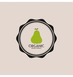 Vegan food label vector