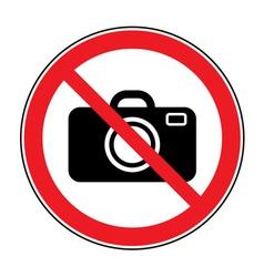 no photo sign vector image