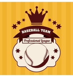 Baseball league design vector