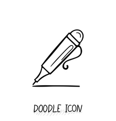 Icon of doodle automatic pen vector