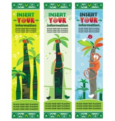 African jungle banners set vector