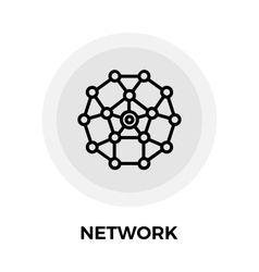 Network Line Icon vector image