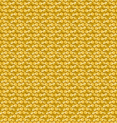 Gold shiny sequins with stitching seamless pattern vector