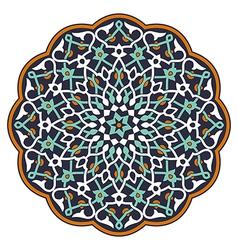 Arabic circular pattern vector image vector image
