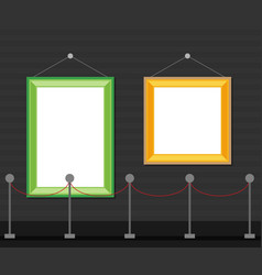 art gallery in the museum in flat style a vector image
