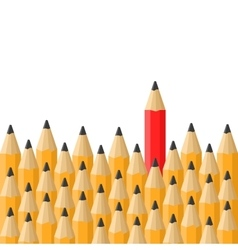 Background with Classic Orange and Red Pencils vector image
