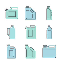 blank plastic canisters vector image vector image