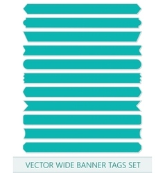 Blue price ribbons Wide sale tags banners vector image