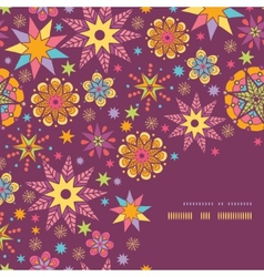 Colorful stars corner seamless pattern background vector