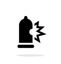Condom bursting icon on white background vector