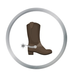 Cowboy s boots icon in cartoon style isolated on vector