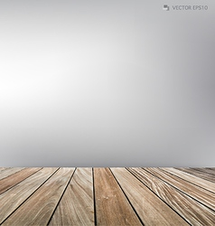 Empty room wood floor vector
