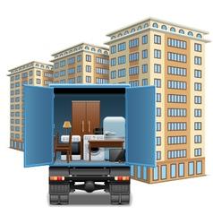 Furniture transportation vector