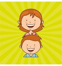 happy family design vector image