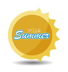 Hello summer 3 vector