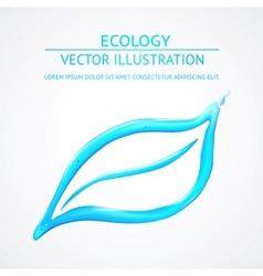 Liquid eco simbol isolated on white vector image
