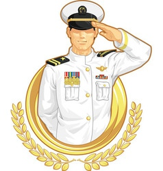Military officer in salute gesture vector