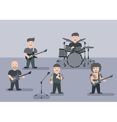 Music band flat graphic vector