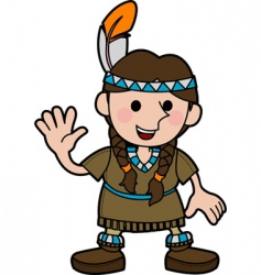 native American costume vector image