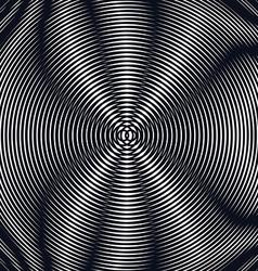 Op art moire pattern relaxing hypnotic background vector