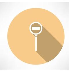 Passage is prohibit icon vector image