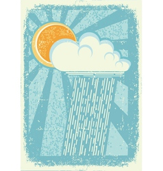 raining sky vector image vector image