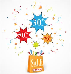 Sale Discount design with shop vector image