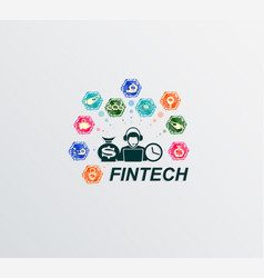 sign financial technology vector image