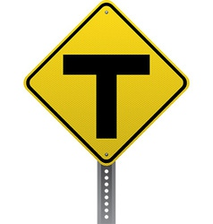T-intersection sign vector