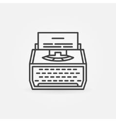 Typewriter line icon vector