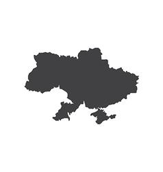 Ukraine map silhouette vector image vector image