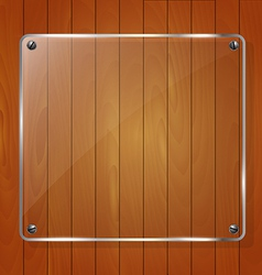 Wooden texture with glass framework vector