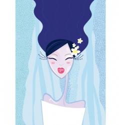 winter woman type vector image